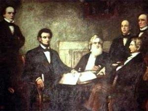 Lincoln debates Wade-Davis with Radical before his pocket veto.