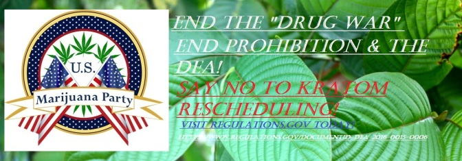 The DEA is accepting comments on the rescheduling of Kratom into Schedule I until December 1st…The time to comment is NOW!